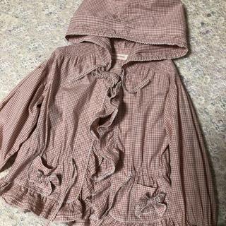 PINK HOUSE - ベビーピンクハウス☆ギンガムチェックフードブラウス羽織り