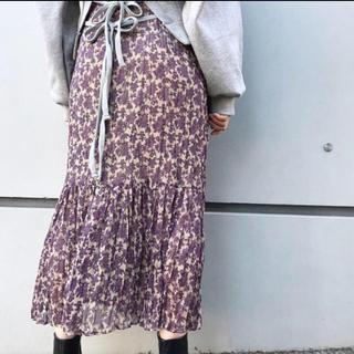 Kastane - kastane 花柄プリーツスカート