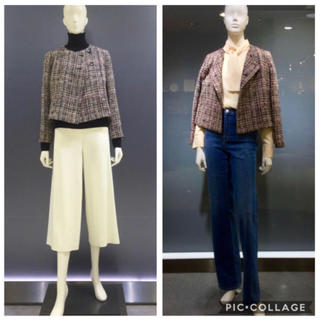 Theory luxe - ⑦ theory luxe ツイード ノーカラー ジャケット