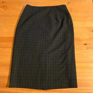NATURAL BEAUTY BASIC - チェック柄タイトスカート