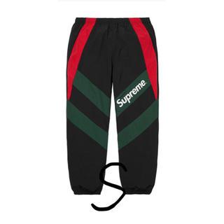 Supreme - Supreme Paneled Track Pant 黒赤 S