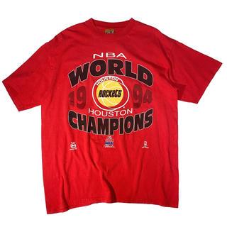 《スポーツプリント》 90s NBA ロケッツ Tシャツ ビッグロゴ USA製(Tシャツ/カットソー(半袖/袖なし))