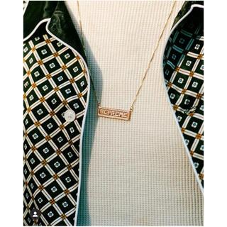 Supreme - supremeネックレスname plate 14k gold pendant