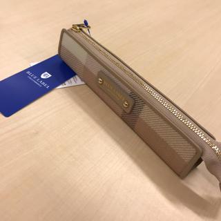 BURBERRY BLUE LABEL - ブルーレーベル クレストブリッジ チェック柄 レザー ペンケース
