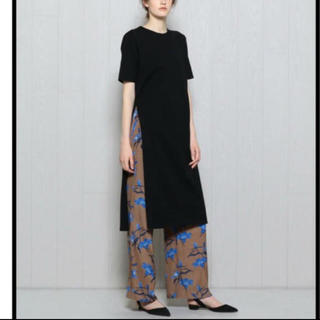 BEAUTY&YOUTH UNITED ARROWS - H beauty&youth  スリッドTシャツワンピース ブラック