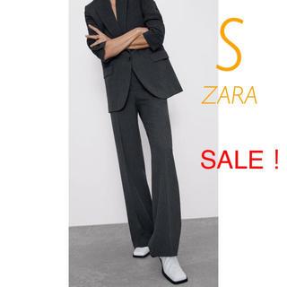 ZARA - 新品未使用 ZARA ハイウエスト ダーツ ストレート スーツ ワイドパンツ S