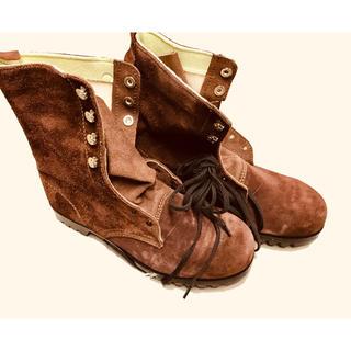 Simon製 耐熱安全靴(長編)ブラウン(その他)