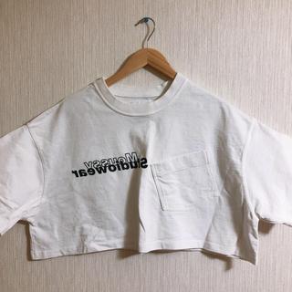 moussy - moussy ショート丈Tシャツ