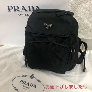 PRADA - PRADA プラダ ナイロンリュック ブラック