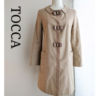 トッカ(TOCCA)のTOCCA トレンチコート スプリングコート リボン ステンカラーコート(スプリングコート)
