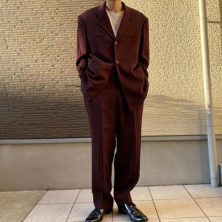 Yohji Yamamoto - ヨウジヤマモト セットアップ ボルドー