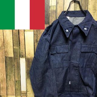 【デッドストック】イタリア軍☆スターマークデニムジャケット 80s