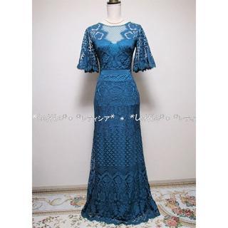 タダシショウジ(TADASHI SHOJI)のタダシショージTADASHIサイズ2☆ボタニカル刺繍☆ロングドレスワンピース(ロングドレス)