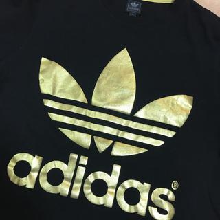 アディダス(adidas)のアディダスオリジナル Tシャツ ブラック ゴールド(Tシャツ/カットソー(半袖/袖なし))