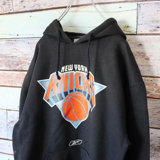 Reebok - KNICKS NBA Reebock パーカー フロントロゴ ブラック M