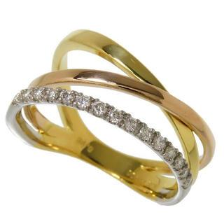 ダイヤモンド リング・指輪 K18 ダイヤ Pt900 プラチナ(リング(指輪))