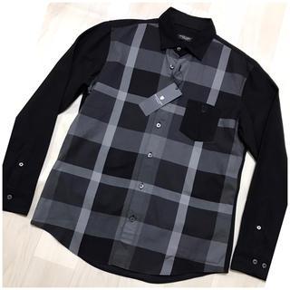 ブラックレーベルクレストブリッジ(BLACK LABEL CRESTBRIDGE)の【新品】ブラックレーベル ジャジーコンビトーナルクレストブリッジチェックシャツM(シャツ)