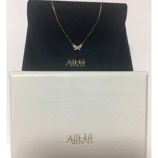 アーカー(AHKAH)のAHKAH アーカー バタフライ ダイヤ ネックレス イエローゴールド(ネックレス)
