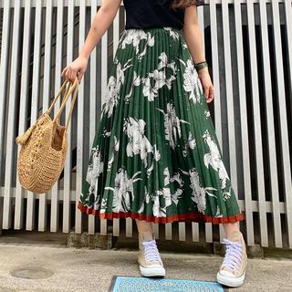 FREE'S MART - FREE'S❤裾ラインフラワープリーツスカート
