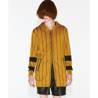 シャリーフ(SHAREEF)のSTRIPE FLEECY STITCH ZIP UP LONG PARKA(パーカー)