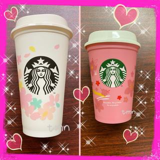 Starbucks Coffee - タイムSALE❗️スターバックス☆リユーザブルカップ☆サクラ☆ピンク&ホワイト
