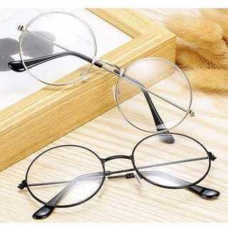 めがね 伊達眼鏡 レトロ シンプル 黒フレーム 丸めがね おしゃれ 韓国(サングラス/メガネ)