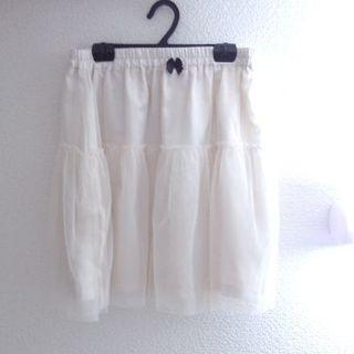 オリーブデオリーブ(OLIVEdesOLIVE)の新品 オリーブアイボリーカラー チュール スカート シフォン   (ミニスカート)