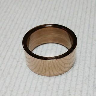 ピンクゴールド 18号 巾10ミリ(リング(指輪))