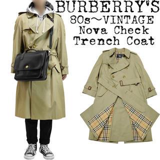 BURBERRY - 美品★BURBERRY★バーバリー★80s★ノバチェックトレンチコート★菅田将暉
