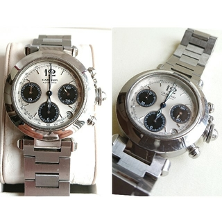 Cartier - Cartier カルティエ 腕時計 パシャC クロノグラフ クロノグラフ