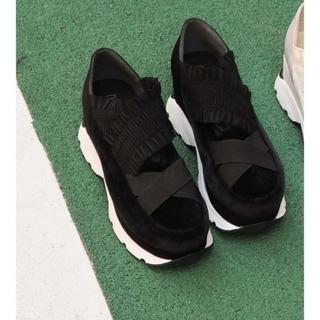 完売 merry jenny frill band sneakers