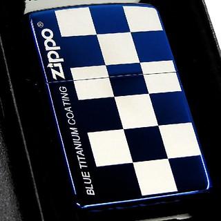 ジッポー(ZIPPO)の(送料込み)ZIPPO◇シンプルコーディネート◇ブルーチタン◇新品◇ジッポ(タバコグッズ)