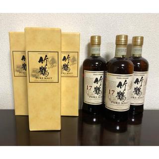 ニッカウヰスキー - 【終売】竹鶴17年 ウィスキー  ニッカ 新品未開封 箱付き 3本セット