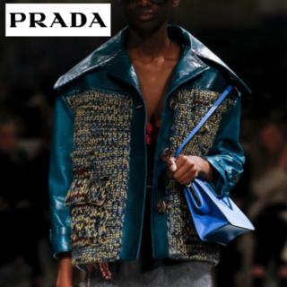 プラダ(PRADA)のPRADA 17 FALL COLLECTION レザー&ウールジャケット(ライダースジャケット)