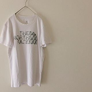 ザノースフェイス(THE NORTH FACE)のノースフェイス 白Tシャツ 半袖 デカロゴ(Tシャツ/カットソー(半袖/袖なし))