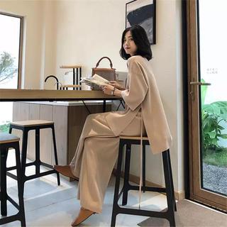 dholic - 韓国ファッション ニットセットアップ
