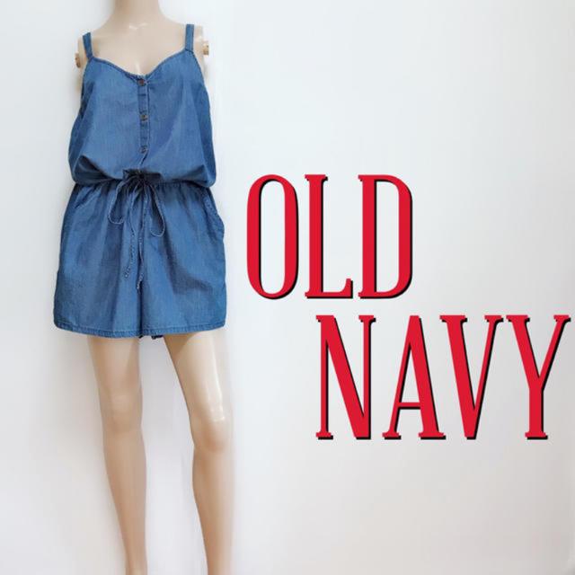 Old Navy(オールドネイビー)のゆるかわ♪オールドネイビー ダンガリーオールインワン♡ザラ マウジー レディースのパンツ(オールインワン)の商品写真