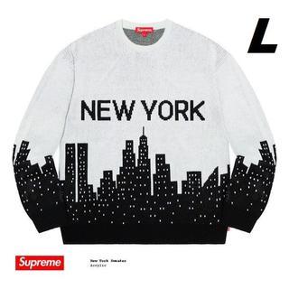 Supreme - Lサイズ Supreme New York Sweater 20SS 国内正規品