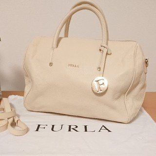 Furla - 【美品】フルラ ボストン型 レザー2wayバッグ