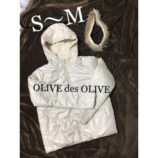 オリーブデオリーブ(OLIVEdesOLIVE)の中綿 ジャケット ブルゾン  レディース S M ( ダウンジャケット 風 )(ブルゾン)