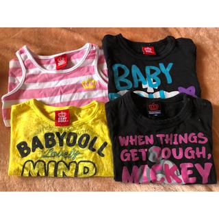 ベビードール(BABYDOLL)の女の子 トップス ベビードール 90 4枚(Tシャツ/カットソー)