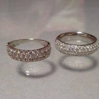 ピンクダイヤモンド 1ct パヴェ プラチナ リング エタニティタイプ (リング(指輪))