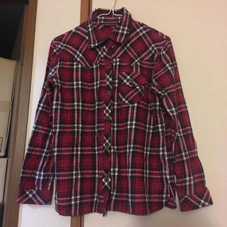 シマムラ(しまむら)のしまむら チェックシャツ レッド 赤(シャツ/ブラウス(長袖/七分))