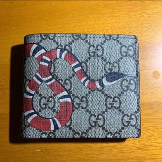 Gucci - GUCCI蛇スネーク折り財布
