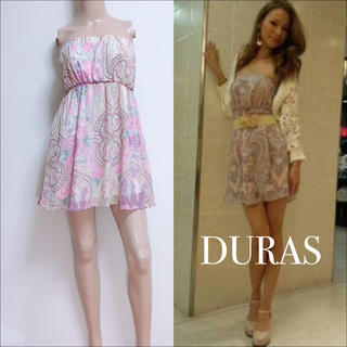 DURAS - DURAS ペイズリー スカーフ柄 ベアワンピース♡リップサービス リエンダ