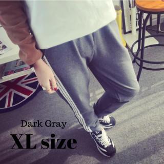ジョガーパンツ ジャージ パンツ スポーツ ウェア 部屋着 ダークグレー XL(カジュアルパンツ)