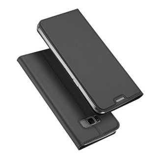 Samsung Galaxy S8 (ブラックグレー)手帳型マグネット付き(Androidケース)
