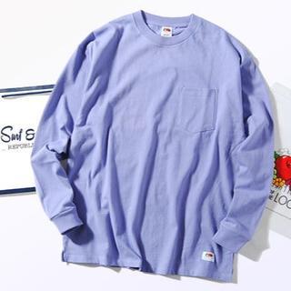 ロンハーマン(Ron Herman)のFruit Of The Loom ビッグロンT パープルM Tシャツ 長袖(Tシャツ/カットソー(七分/長袖))