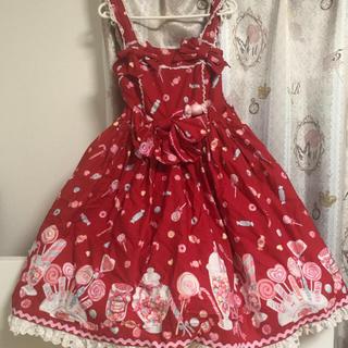 Angelic Pretty - Angelic  Pretty ミラクルキャンディ 赤ジャンパースカート