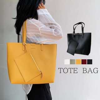 トートバッグ レディース ハンドバッグ 肩掛けバッグ ポーチ付き 大容量鞄 A4(トートバッグ)